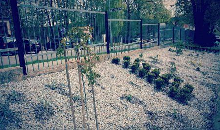 Zahradníci vytvořili okrasný záhon vareálu firmy Eurotech